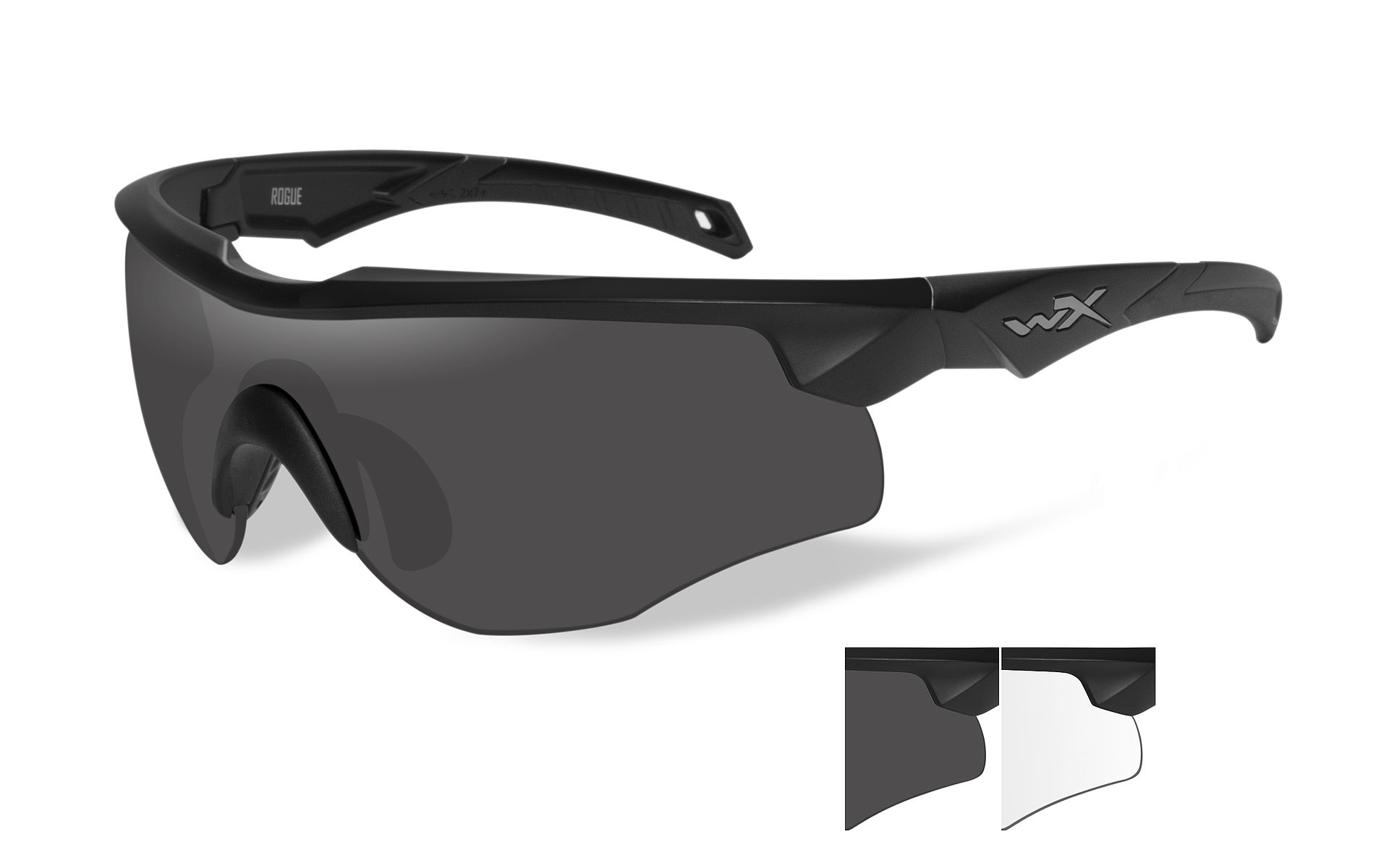 36c1100a514 ... WILEY X ROGUE Smoke grey + clear lens Matte black frame 109 EUR
