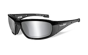 WILEY X BOSS Silver flash smoke grey lens Gloss black frame 109 EUR ... 375f4869a6